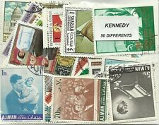 """Lot timbres thematique """"Kennedy"""""""