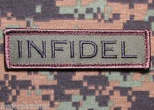 INFIDEL USA ARMY MORALE ROCKER TAB ISIS TACTICAL FOREST VELCRO® BRAND PATCH