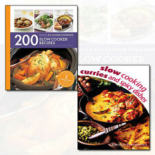 Slow Cooking Curries and Spicy & 200 Slow Cooker Recipes 2 Books Collection Set