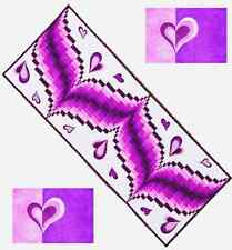 ~ FUN NEW PATTERN ~ HEART SONG TABLE RUNNER & PLACEMATS ~ GRIZZLY GULCH GALLERY