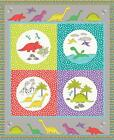 Jurassic Coast Bright Dinosaur Panel A003-1 Patchwork Fabric Lewis and Irene