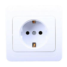White EU 16A 250V Wall Socket Power Charging Electric Outlet Recepatacle Adapter