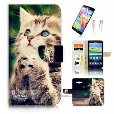 Samsung Galaxy Grand Prime Flip Wallet Case Cover! P0080 Pray Pussy Cat