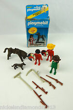 Vintage Playmobil 2951 Indian and Horse Retired 1983 W/ EXTRAS as shown