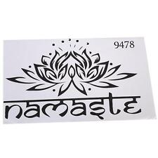 New Namaste Yoga Wall Sticker Decal Vinyl Lotus Flower India Boho Home Decor LA
