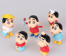 Crayon Shin-chan Mini Figure Doll Figurine Kids Birthday Gifts 6pcs/set