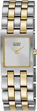 Citizen Eco-Drive Jolie White Dial Two-Tone Women's Watch EX1304-51A