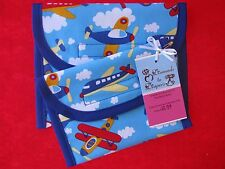 Airplanes Reusable Lunch Bag Set of 2 - Snack and Sandwich Size