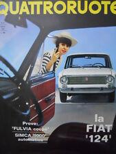 Quattroruote n°123 1966  - Test su strada Simca 1000 Autom - Fulvia Coupè [Q79A]
