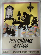 BJORN WIINBLAD,DENMARK POSTER 1989 'UGLY DUCKLING'ROYAL THEATER ORIG.ISSUE, PRIS