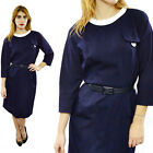 Vintage 60s PECK & PECK Secretary Babydoll Peter Pan Collar Mod Dress