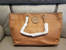 NWT Tory Burch Royal Tan Leather Marion EW Tote $550