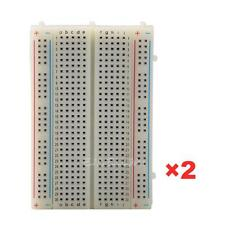 2 Mini Solderless Breadboard Bread Board 400 Contacts Available Test Develop DIY