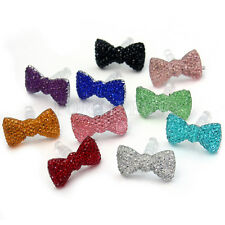 10pcs Bow Crystal 3.5mm Earphone Cap Dust Plug For iPhone 3 4 4S 5 Samsung HTC