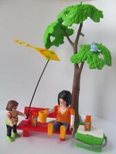Playmobil ESCENA DE Dollshouse/Patio Picnic Figuras: mamá & Girl con cometa NUEVO