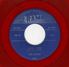 CLASSIC VOCAL GROUP DOOWOP-CROWS-RAMA 30-MISS YOU/I REALLY, REALLY LOVE YOU-RED