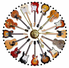 NEW Guitars CD Clock