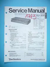 Service MANUAL PER TECHNICS su-300, ORIGINALE