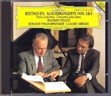 POLLINI & ABBADO: BEETHOVEN Piano Concerto No.3 & 4 DG CD Klavierkonzerte Live