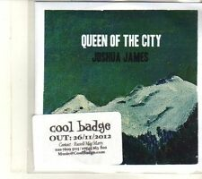 (DT926) Joshua James, Queen Of The City - 2012 DJ CD