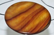 40x4 Shimmer~GOLDEN Brown MOTHER OF PEARL Large Coin Disc Pendant C0801