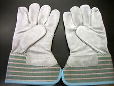 Industrial Leather Palm Work Gloves One (1) Pair Size X-Small B-Grade