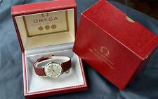 MEN's OMEGA AUTO DATE RARE 560 SUPER ORIG DIAL 1965 VINTAGE ORIGINAL BOXES LABEL