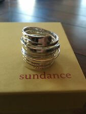 NEW Sundance Catalog Sterling Silver Wraparound Ring 7/6 WIDE band