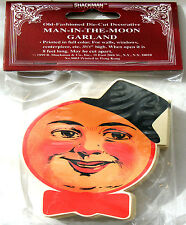 MAN IN THE MOON CHRISTMAS TREE GARLAND 8ft. Mint/Factory Sealed NIP Shackman