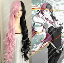 RWBY Neo Black Pink Long Curly Hair Cosplay Wig