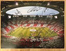 FC BAYERN MUNICH - Hand Signed 16x12 Photo - Champions League Treble - Football