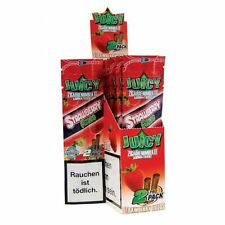 1 Pack of 2 BLUNT WRAP JUICY JAY'S - STRAWBERRY FIELDS - ROLLING PAPER ZIP PACK