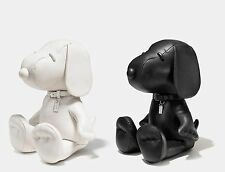 "Ltd. Edition Coach x Peanuts M 15"" Black & Chalk Leather SNOOPY Doll Set"