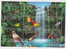 Central African Republic - Birds, 2001 - Sc 1409 Sheetlet of 9 MNH