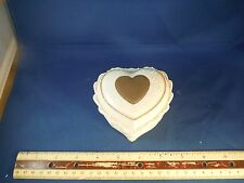 "Ivory China Heart ""The Rose"" Trinket Music Box"