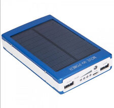 30000mAh Dual USB Portable Solar Battery Charger Power Bank For Cell Phone Blue