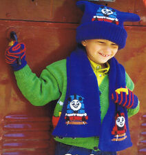 Knitting Pattern-Thomas the tank engine, hat-scarf-mitts- fits 6 months-8 years