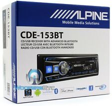 ALPINE CDE-153BT CD USB MP3 WMA AUX IPOD IPHONE EQUALIZER EQ BLUETOOTH RADIO NEW