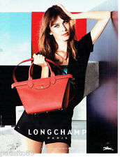 PUBLICITE ADVERTISING 1016  2015   le sac Longchamp pliage Heritage
