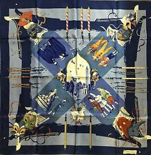 Pre-owned Hermes silk scarf Fetes Venitiennes by Watrigant