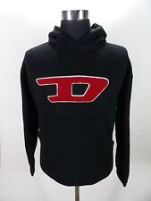 Men's Diesel Hoodie Sweater, Size L Large, Black, Cotton #BL752 OK