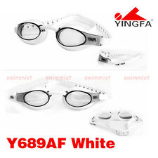2016 NEW YINGFA Y689AF-2 WHITE SWIMMING GOGGLES GLASSES ANTI-FOG FREE FLAT SHIP!