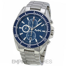 *NEW* MICHAEL KORS MENS LANSING BLUE CHRONOGRAPH WATCH - MK8354 - RRP £229