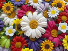 100! Handmade Mulberry Paper Daisy & Sunflower - Colour Mix Daisies & Sunflowers