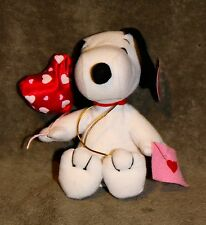 "Peanuts Snoopy Valentine Balloons and Card NWT 6"" Whitmans"