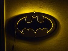 BATMAN 3D METAL SIGN CUSTOM MADE BAT SIGNAL LIGHTED SIGN LED MAN CAVE