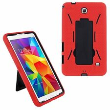 Red 2in1 Hybrid Case Skin Cover For Samsung Galaxy Tab E Lite 7.0 / 3 7""