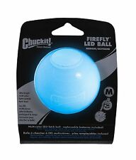 Chuckit FIREFLY LED Ball Medium Dog Durable Translucent Fetch Ball 2 LED lights