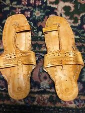 Hippie BUFFALO SANDALS SHOES FLATS TOE RING Jesus Creepers SZ 6
