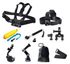 9in1 Head Chest Monopod Pole Mount Accessories For GoPro 1 2 3 4 Session Camera